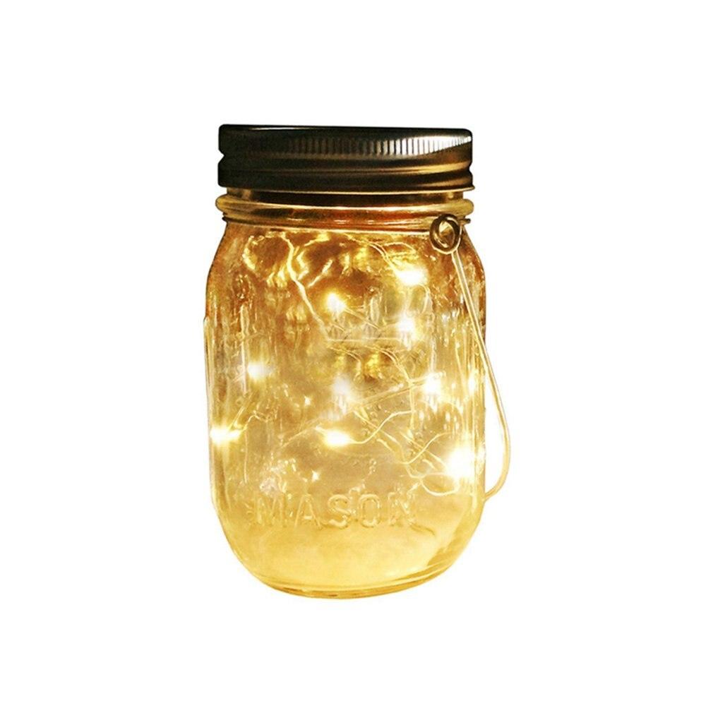 ICOCO Solar Mason Jar Lamp Decoration Lantern Courtyard Wave Bottle Light Drop Shipping Hot Sale