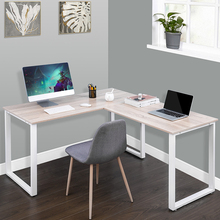 Modern Home Office Furnitures U_style L-Shape Computer Desk Computer Table Office Desk Wooden Laptop Table Study Corner Table cheap Laptop Desk solid color 58x58x29 9 inch