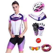 Женский велосипедный комплект из Джерси профессиональная велосипедная