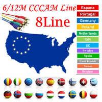 8Line Cccam cline for 6/12Months Spain Oscam cline use for GT media V8 Nova V9 Super Satellite TV Receiver Europe channels