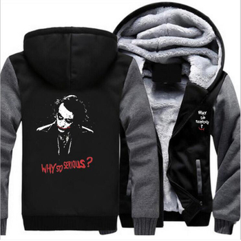 The Joker Why so serious Hoodies Winter Men Sweatshirts Zipper Tracksuit Fashion Hooded Hoodies Streetwear Autumn Casual Jacket