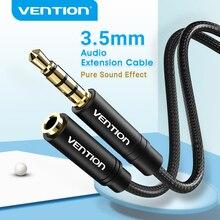 Vention 3.5mm 오디오 연장 케이블 잭 3.5mm 남성 여성 AUX 케이블에 헤드폰 화웨이 P20 아이폰 6s MP4 플레이어 AUX 케이블