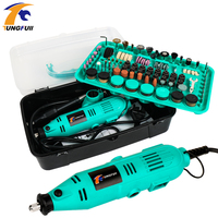 388PCS Mini Drill Dremel Style Drilling Machine Dremel Drills Rotary Tools Power Tool Accessories Grinder Electric Hand Drill