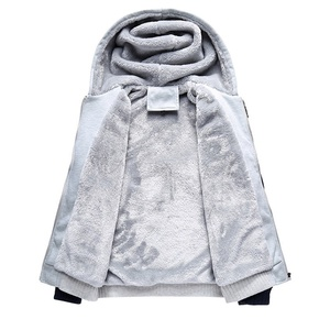 Image 5 - Kış erkek kalınlaşmak polar Hoodies sıcak tişörtü katı spor fermuarlı kapüşonlu kıyafet erkekler kapşonlu dış giyim rahat rüzgarlık Tops