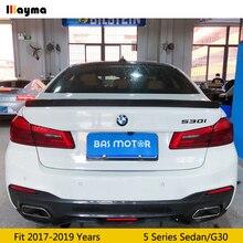 3D style carbon fiber rear trunk spoiler lip For BMW 5 series sedan 525i 530i 540i 2017 - 2019 G30 CF Car styling spoiler wing ноутбук hp 8mk78ea dragonfly blue