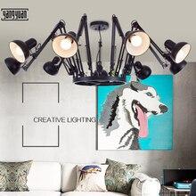 купить LED Vintage Chandelier Loft Spider Lustre E27 Adjustable Livingroom Lighting For Kitchen Restaurant Chandelier Fixture Lights дешево