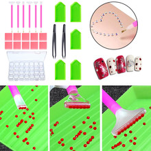 24pcs/set 5D Diamonds Painting Tools DIY Craft Accessories Kit With Diamond Pen Tweezers Embroidery Box Diamond Paint Tools(China)