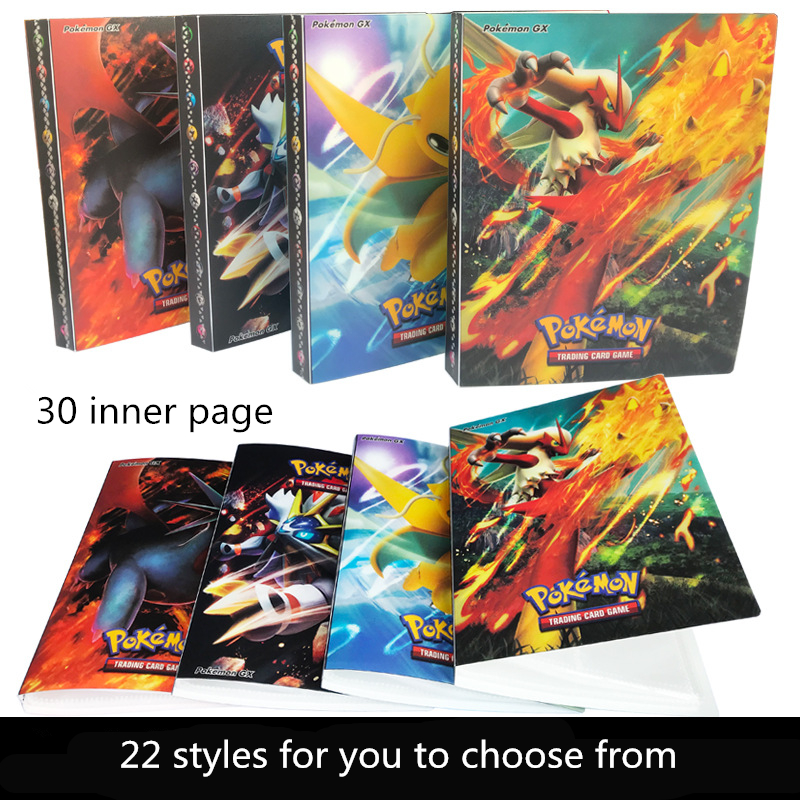 22-styles-font-b-pokemon-b-font-go-cosplay-prop-accessories-cards-collection-album-240-card-pockets