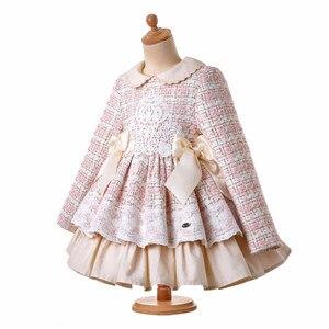 Image 3 - Pettigirl yeni dantel kış kız elbise kabarık prenses elbise kız zarif tüvit doğum günü çocuk giyim butik