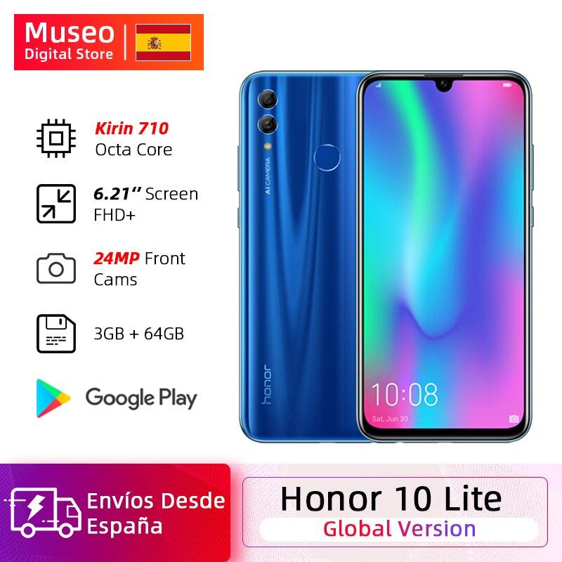 Versión Global Honor 10 Lite móvil teléfono Kirin 710 ocho nucleos 6,21