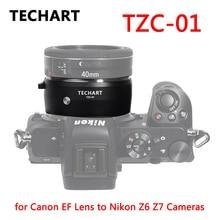 TECHART TZC 01 Objektiv Adapter für Canon EF Objektiv Nikon Z6 Z7 Z50 Kamera Adapter Ring EF NK Z Montieren Auto fokus AF