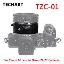 TECHART TZC 01 obiektyw adapter do canona obiektyw ef do firmy Nikon w Z6 Z7 Z50 pierścień adapter do aparatu EF NK Z mocowaniem Z automatyczne ustawianie ostrości na stronie