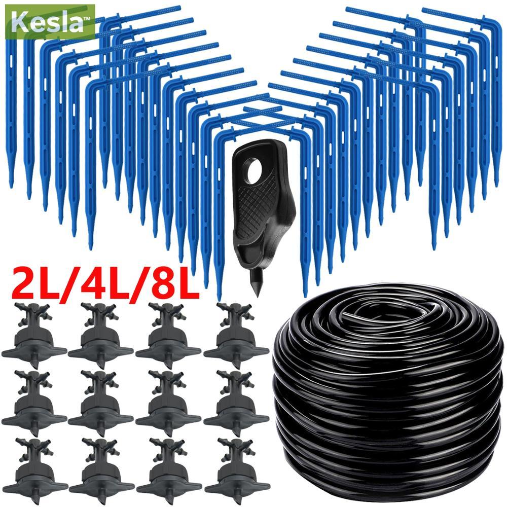 Kas Druppelirrigatie 4-Weg 3/5 Mm Druppelen Pijl 2-Manier Zender Irrigatie Watering Systeem Voor pot Tuin Gazon 10 Set/20 Set