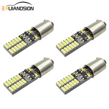 2W T11 T4W BA9S BAX9S H6W BAY9S H21W 3014SMD 24 Canbus LED Interior Dome Bulb Car Parking Light Door Lamp AC/DC 12V white Yellow(China)