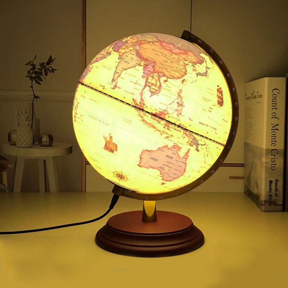 World Globe Light Up Table Led Lamp Usb