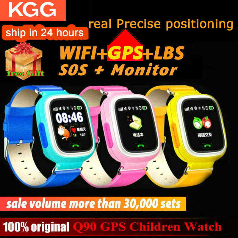 Q90 Smart Uhr GPS Kind Telefon Position Kinder Uhr 1,22 zoll Farbe Touch Screen WIFI SOS Smart Baby Uhr Q50 q80 q60 Uhr