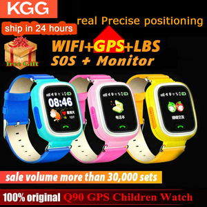 Q90 Smart Watch GPS Child Phone Position Children Watch 1.22 inch Color Touch Screen WIFI SOS Smart Baby Watch Q50 q80 q60 Watch(China)