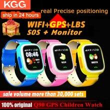Q90 スマート · ウォッチgps子電話位置子供腕時計 1.22 インチカラータッチスクリーンwifi sosスマートベビーウォッチQ50 q80 q60 腕時計
