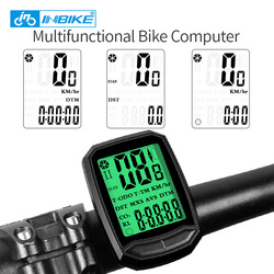INBIKE Wireless Bike Computer Multifunction Speedometer Waterproof Wired Cycling Odometer MTB Bike Stopwatch Bicycle Computer