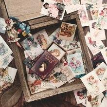 100 шт./кор. Винтаж Европа штамп мини Открытка праздничные открытки подарок для ребенка школьные принадлежности