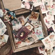 100 unids/caja Vintage Europa sello mini Tarjeta de mensaje festival tarjeta de felicitación niños regalo escuela suministros