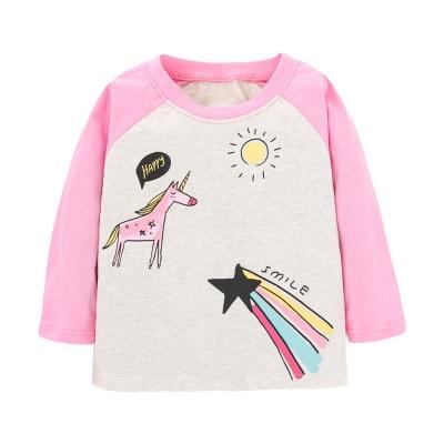 H7ffa3822643849978d9786fbba788660N VIDMID Baby Girls Long Sleeve Casual T-shirts Kids Cotton Floral Cartoon Clothes s Children Girls T-shirts Tees Kids Baby