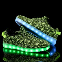 2019 Halloween Fashion Party Led Luminous Light Up Glowing Sneakers For Women Men  Girls Shoes Kids