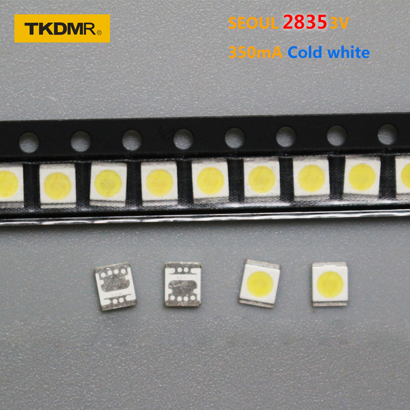 TKDMR 100pcs For SEOUL LED Backlight 1W 3V 3528 2835 131LM Cool white For LED LCD Backlight TV Application LED LCD TV Backlight