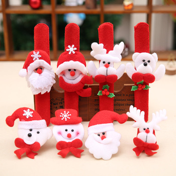 Christmas Patting Circle Bracelet Decoration for Xmas Children Gift Santa Claus Snowman Deer New Year Party Toy Decor image