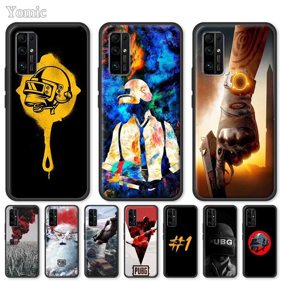 Soft Case For Huawei Honor 20 Pro 9C 9S 10X Max 8X 30 Play 9A Y6 Y9 Prime 2019 Mate 20 Lite Black Cover Pubg