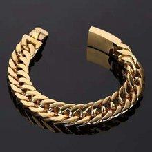 Nova moda cubana corrente pulseira masculina moda metal corrente pulseira acessórios festa jóias