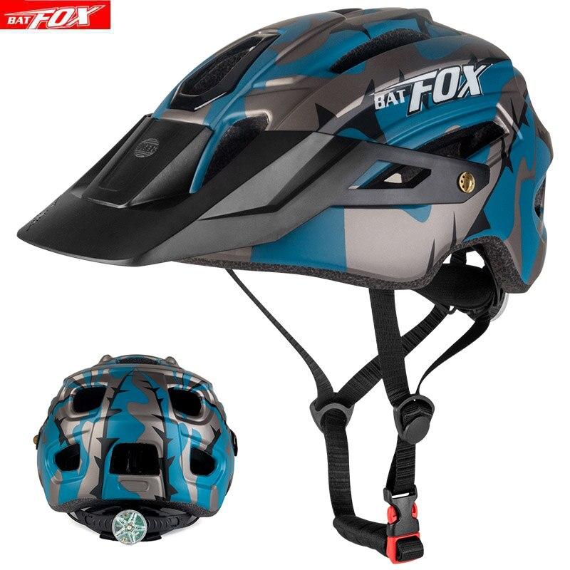 Велосипедный шлем BATFOX, черный, чернильный, зеленый, велосипедные шлемы, MTB дорожный шлем для горного велосипеда, внутренний шлем casco Capacete Da ...