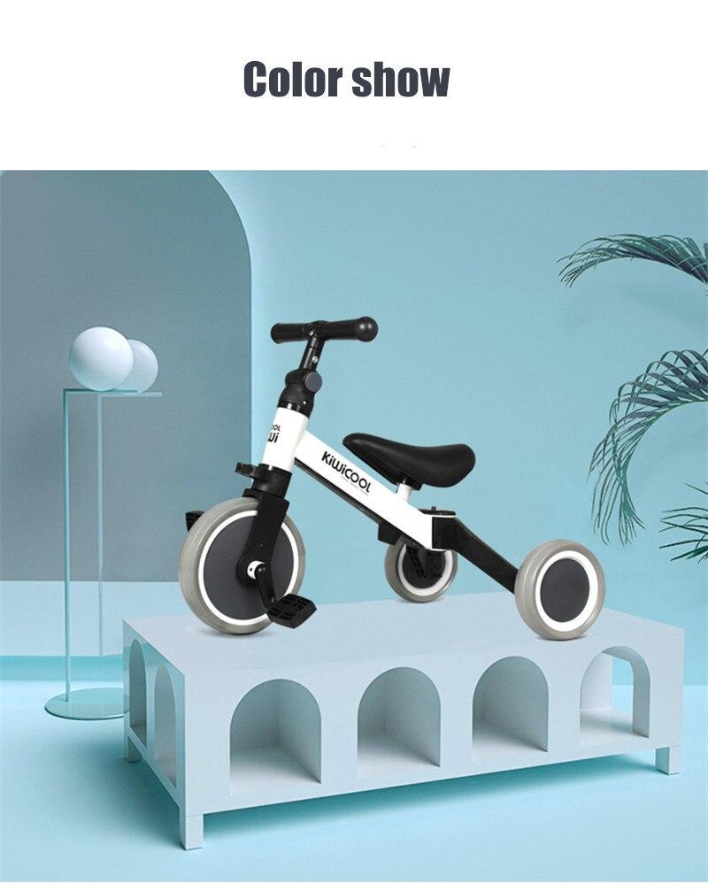 H7ffaf3188212429798d323c444473482N 3 in 1 Kids Tricycle + Balance bike + Baby walker Child Push Bike Toddler Learn to Ride Bicycle Ride On Toy Boy Girl Xmas Gift