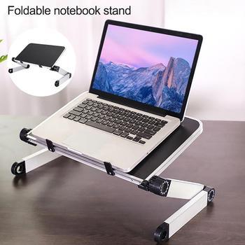 Foldable Aluminum Alloy Notebook Stand Adjustable Laptop Heighten Desktop Holder