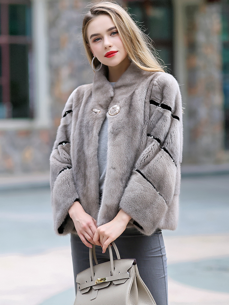 Coat Mink Real Female Natural Fur Coats Winter Jacket Women Clothes 2020 Luxury Korean Jackets Manteau Femme MY4102 S S