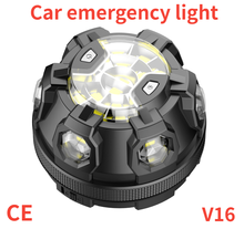 Luz Emergencia Coche V16 Homologada Help Flash Car Beacon Emergency SOS Light LED Roadside Safety Flashing Lamp Warning Lantern