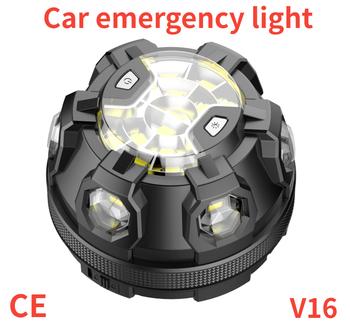 Luz Emergencia Coche V16 Homologada pomóc lampa błyskowa samochodów awaryjne Beacon światło SOS LED drogowych bezpieczeństwa migające lampa ostrzegawcza lampa latarnia tanie i dobre opinie F Z L CN (pochodzenie) ROHS Ogniwo suche W nagłych wypadkach