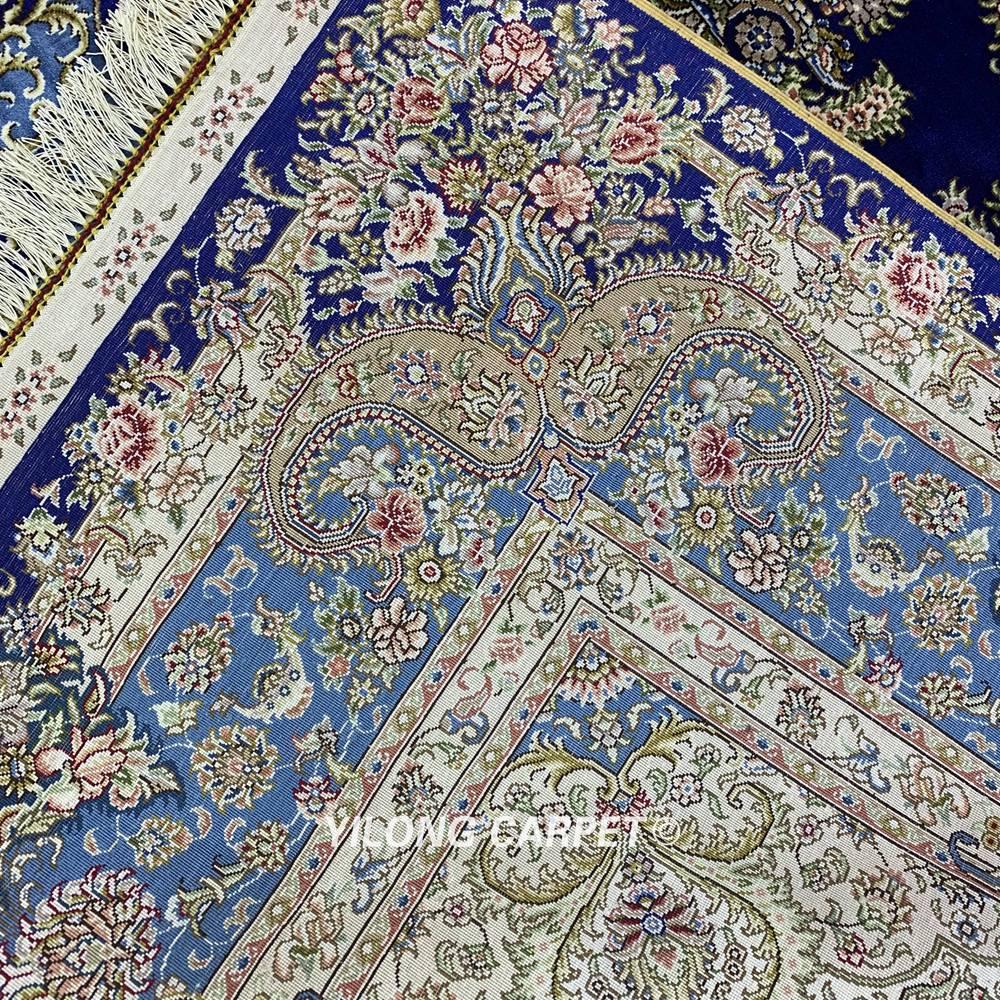Yilong 6'x9 'Vantage persain alfombra de dormitorio azul oscuro hecha - Textiles para el hogar - foto 6