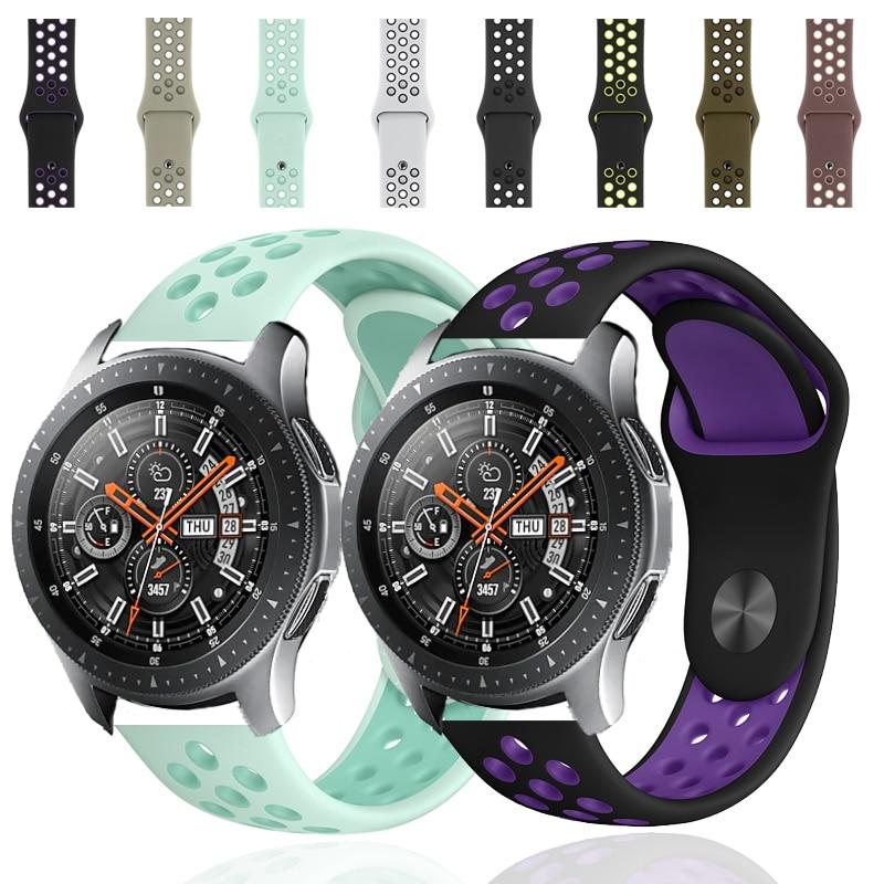 22mm 20mm bracelet de montre pour samsung bande galaxie montre active 46mm engrenage S3 frontière 42mm huawei montre gt bracelet silicone bracelet de montre