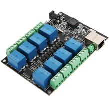 цена PLC Control Module Network Relay RJ45 8-Channel NC-1000 Programmable Controller Board for WiFi Remote Control онлайн в 2017 году