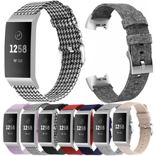 Холст для Fitbit заряд 3 4 смарт-браслет ремешок петли для Fitbit заряд 3 4 лучезапястного сустава Замена Correa