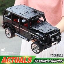 Yeshin 701960 внедорожник для внедорожников, совместимая с G500, модель автомобиля, строительные блоки, сборочные наборы, развивающие игрушки для детей, подарки