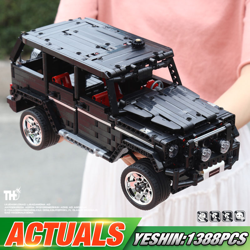 Yeshin <font><b>701960</b></font> Off-road SUV Car Compatible with G500 Car Model Building Blocks Bricks Assembly Kits Education Toys for Kids Gifts image