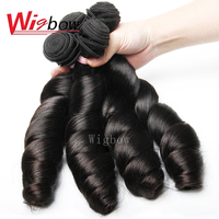 Wigbow OneCut Hair Brazilian Loose Wave 8 30 Inch P 4 Bundles Remy Hair Extensions 100% Human Hair weaves Can Be Permed