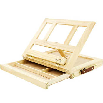 Wooden Table Easels for Painting Artist Kids Drawer Box Portable Desktop Laptop Accessories Suitcase Paint Hardware Art Supplies - DISCOUNT ITEM  22 OFF Education & Office Supplies