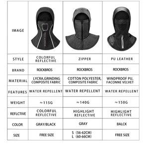 Image 5 - Зимняя Теплая Флисовая термомаска ROCKBROS с флисовой подкладкой, сохраняющая тепло, Ветрозащитная маска для лица, нагрудники для катания на лыжах, сноуборде и шеи