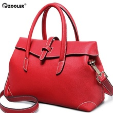2016 special offer !ZOOLER bags handbags women famous brands women leather bag OL stylish bags Simple shoulder bag for lady#6120 2017 new zooler genuine leather bag superior cowhide rivet leisure simple women backpack fashion leisure women famous brands