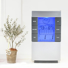 Digital Weather Forecast Station Alarm Clock Kids LCD Screen Temperature Humidity Backlight Monitor With Snooze Function wireless digital weather station latest new white remote multifunction weather forecast clock temperature humidity meter
