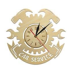 Narzędzia do naprawy samochodów drewniana ściana zegar samochodowy Auto zegar ścienny zegarek Vintage fajny mechanik prezent idealny do warsztatu samochodowego