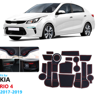 Anti Slip Rubber Gate Slot Cup Mat for KIA RIO 4 2017 2018 2019 Door Groove Mat For Rio 4 X Line Cup Cushion Accessories RIO4|Car Stickers| |  -